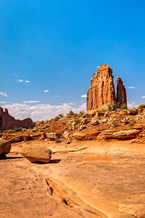 The Organ Formation from the Park Avenue Trail in Arches National Park, Moab, Utah