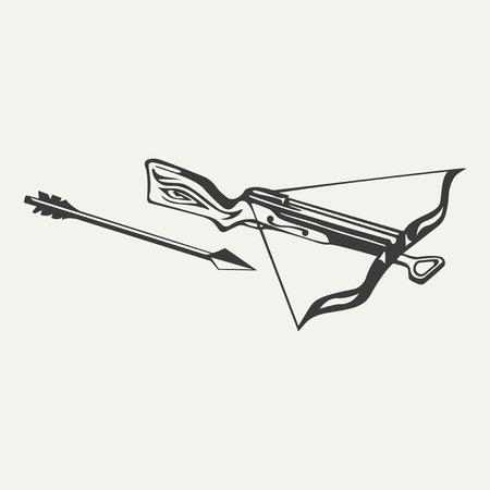 armbrust: Illustration der Armbrust. Schwarz-Wei�-Stil