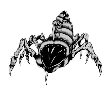 arthropoda: Illustration of creepy scorpion.