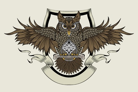 cognizance: It is an owl. A symbol of wisdom.