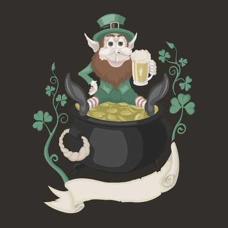 It is image of St. Patrick with a pot of gold.