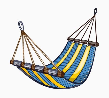 hammock: Es una hamaca pintado. De color sobre fondo blanco. Vectores
