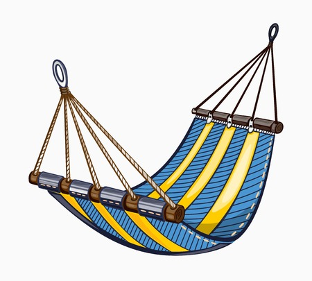 hammock: It is a painted hammock.  Colored on white background.