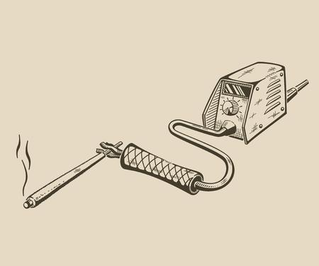 welding machine: It is monochrome vector illustration of welding machine.