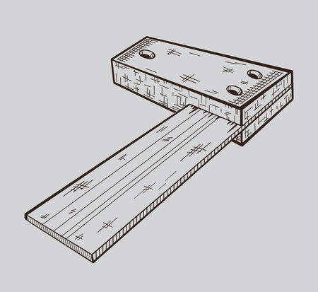 It is monochrome vector illustration of building corner.