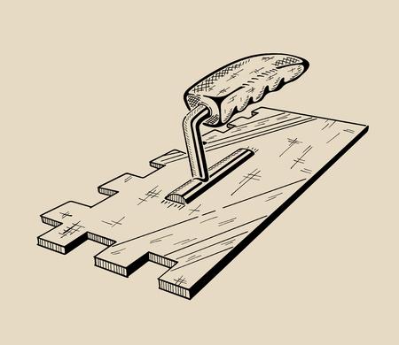 It is monochrome vector illustration of ladder. Stock Vector - 46368101