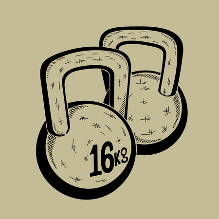 Illustration of dumbbell. Sports equipment. Vector graphic. Illustration