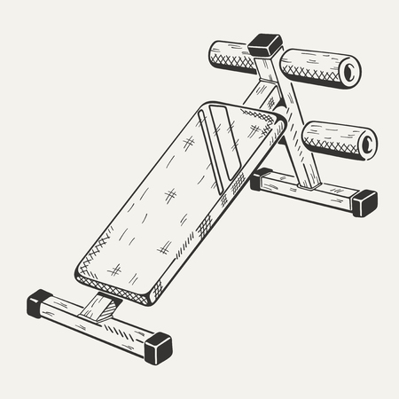 apparatus: The image with illustration of training apparatus. Sports equipment.