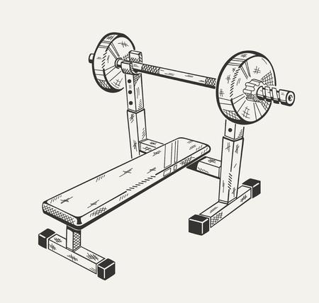 훈련 장치의 일러스트와 함께 이미지입니다. 스포츠 장비.