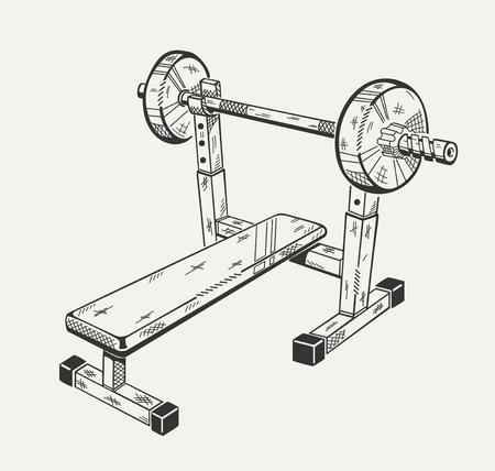 execute: The image with illustration of training apparatus. Sports equipment.
