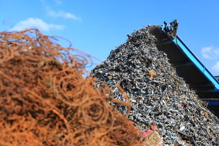 Metal trash for scrap Stock Photo