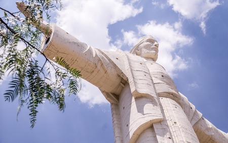 cochabamba: The worlds largest statue of Jesus Christ is not in Rio de Janeiro but on a hill overlooking the city of Cochabamba, BOLIVIA Stock Photo