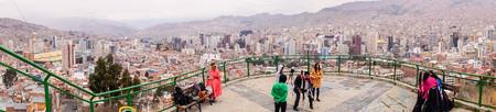 la paz: La Paz, Bolivia on October 3, 2015: Panoramic view of the city of La Paz, Bolivias seat of government