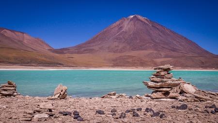 avaroa: The green lagoon Laguna Verde is a popular attraction in Bolivias Eduardo Avaroa Andean Fauna National Reserve near Uyuni