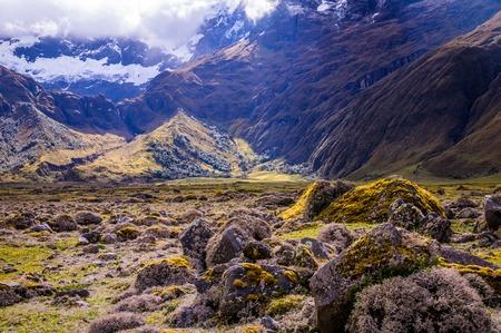 リオバンバ、エクアドルの近くのアンデスの風景 写真素材
