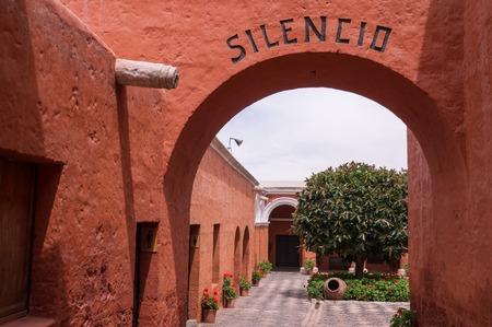 catholic nuns: Entrance to Santa Catalina monastery in Arequipa, Peru