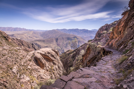 bolivian: Ancient Inca trail in Bolivian Andes near Sucre, Bolivia