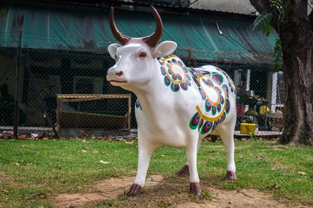 Sacred Hindu cow statue