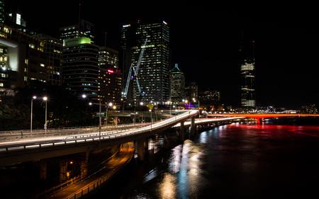 Brisbane, Queensland, Australia on August 16, 2016: View of Brisbane at night