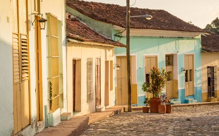 Colonial Street in Sancti Spiritus, Cuba: Located near popular Trinidad, Sancti Spiritus still is an insider tip for tourists looking for beautiful colonial buildings in Cuba.