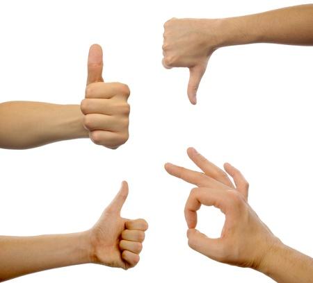 Eine Hand photo, Gesten Standard-Bild - 17995309