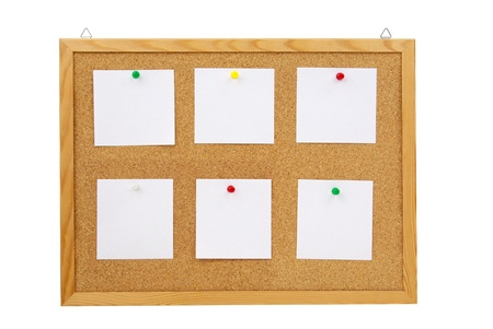 photo of collection of various note papers on cork board Stock Photo - 17995276