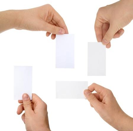 Ein Foto der Hände mit Karten Standard-Bild - 17995291