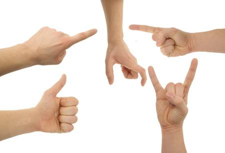 Ein Foto von isolierten Hand mit Clipping-Pfad Standard-Bild - 17995311