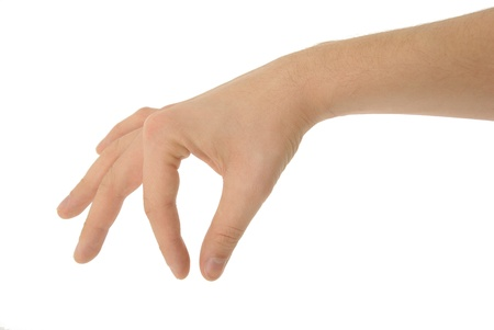 Ein Foto von isolierten Hand mit Clipping-Pfad Standard-Bild - 17995478