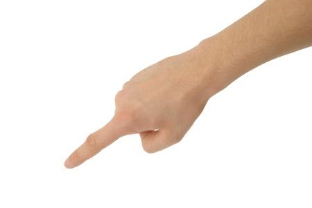 dictatorial: una foto della mano isolato con percorso di clipping Archivio Fotografico
