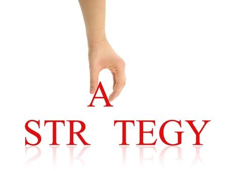 Strategie abstrakten mit Clipping-Pfade Standard-Bild - 18084934