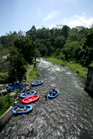 River rafting at Bali in Indonesia photo