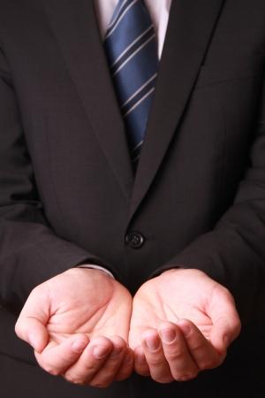 Geschäftsmann Hände, als ob etwas halten Standard-Bild - 23770590