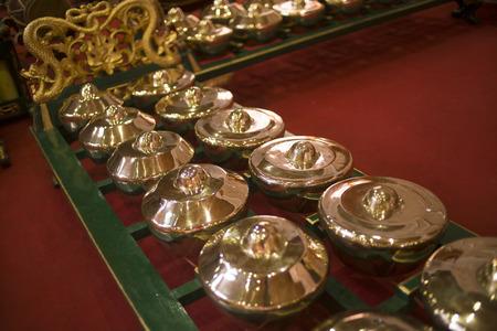 Gamelan - Javanese Traditional Music Instrument, Yogyakarta Stock Photo