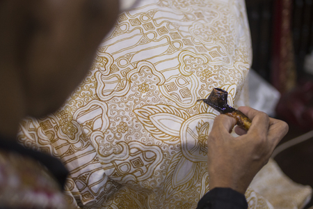 Painting Batik - Javanese Traditional Painting on Fabric, Yogyakarta