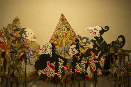 Wayang - Javanese Traditional Shadow Puppet Stock Photo