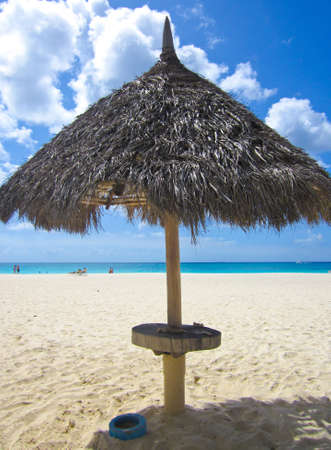 the beach umbrella on the beach