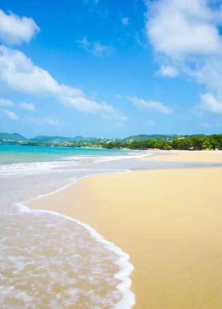 st lucia: Sand beach of St Lucia Stock Photo