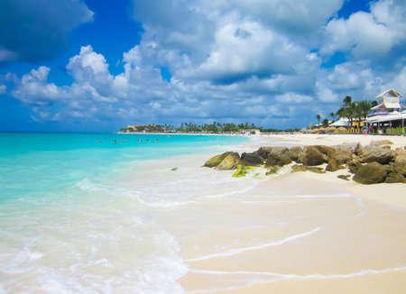 the scienic of Aruba beach Stock Photo