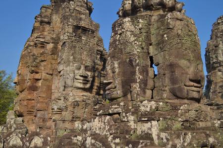 bayon: Bayon temple in Cambodia Stock Photo