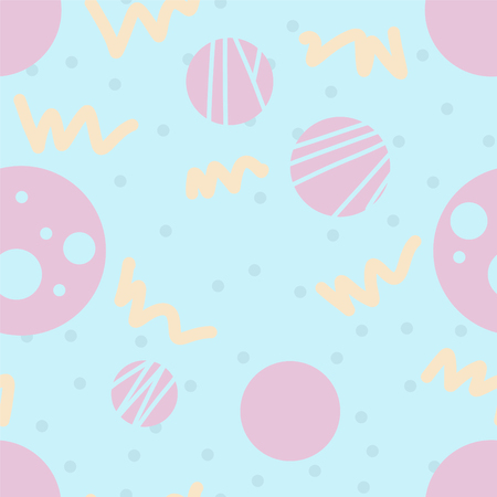 Simple geometric seamless pattern. Good for printing - present papper, textile and kids staff inn pastel colors.
