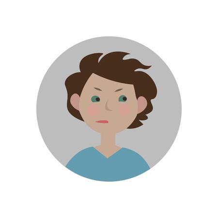 covetous: Envy emoticon. Jealous expression icon. Isolated vector illustration. Illustration