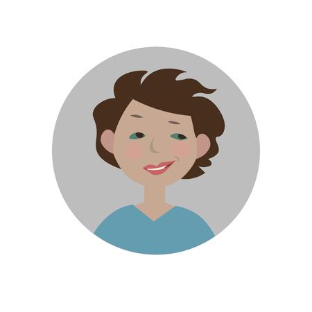 Smirking emoji. Sarcastic emoticon. Ironic smiley. Sneering expression. Isolated vector illustration. Vectores