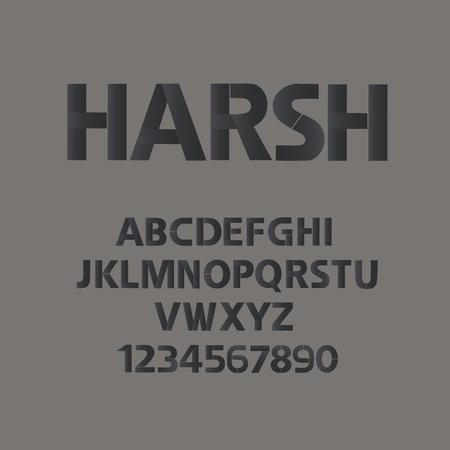 가혹한 남자 스타일의 알파벳.