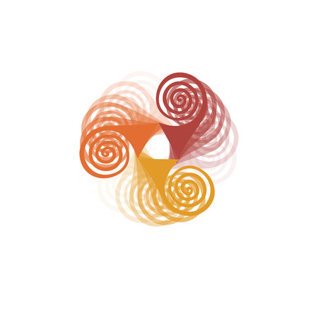 Abstract colorful spinner in motion icon design. Windmill icon isolated vector concept. Illustration
