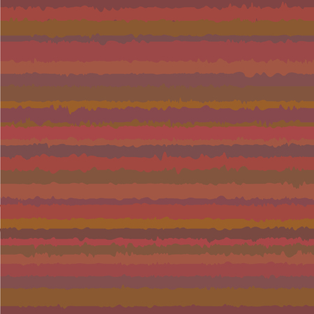 Seamless geometric pattern with noisy stripes. Abstract colorful rippled vector background. Cozy texture in warm colors