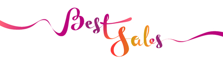 Best Sales gradient lettering design for your promotion banners. Vector illustration isolated on white Ilustração
