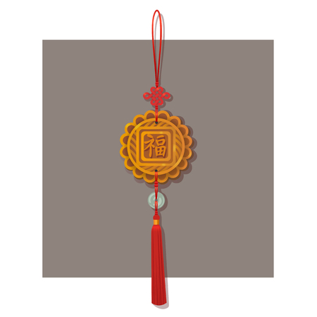 Good Luck Red Chinese Hanging Lantern Charms Knots Tassel Auspicious Decoration