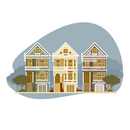 Family house icon isolated on background.  イラスト・ベクター素材