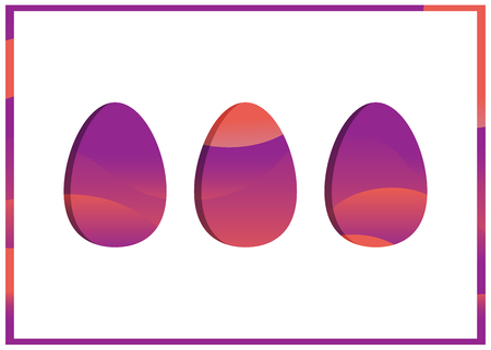 Easter egg greeting card Stock Vector - 120861847